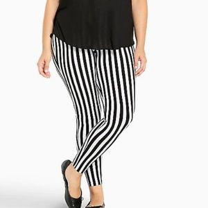 White with Black Stripe Torrid Leggings